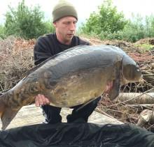 Spiegelkarper 22 kilo