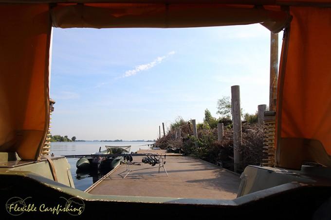 uitzicht nieuwe visstek boot